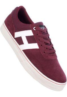 HUF Choice, Shoe-Men, burgundy-white #ShoeMen #MenClothing #titus #titusskateshop