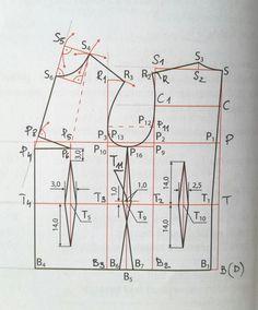 Konstrukcja siatki bluzki podstawowej w godzinę. Niemożliwe? A jednak! – Project – Sew Sewing Basics, Pattern Making, Studio, Projects, How To Make, Inspiration, Men's Jacket, Corsage, Chess