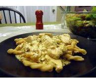 Creamy Pesto Chicken with FAGE Total Greek Yogurt  and I will serve with spaghetti squash...
