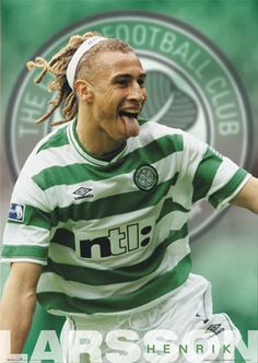 I Henrik Larsson, Glasgow Celtic Celtic Team, Celtic Fc, Football Soccer, Football Players, Premier League, Fifa, Kenny Dalglish, Team Wallpaper, Different Sports