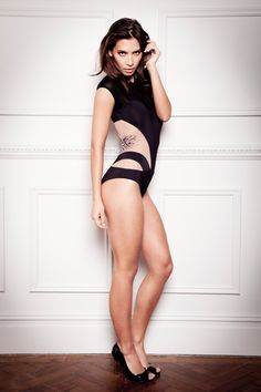 Lana Bodysuit (£190):   Dare to create the 'wow' factor in new Lana bodysuit. This elegant piece sculpts the body and takes underwear as outerwear to a new level. The innovative styling creates the illusion of tantalising cut out sections that wrap around the waist and hips. With its contouring lines it streamlines your body to accentuate your curves. #lingerie #fashion #tatucouture #bodysuit
