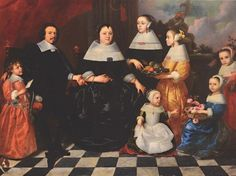 Jacob van Oost (1603-1671), circle of, Family portrait - oil on canvas, cm 195x266 - [...], Furnishings and Paintings from Palazzo Corner Spinelli in Venice (Genova) à Cambi Casa d'Aste | Auction.fr
