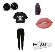 """""""Mall"""" by miarivera145 ❤ liked on Polyvore featuring adidas, River Island, adidas Originals and Lime Crime"""