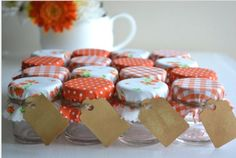 Wedding favour jars from etsy