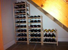 Wine rack from Ikea, #understairs