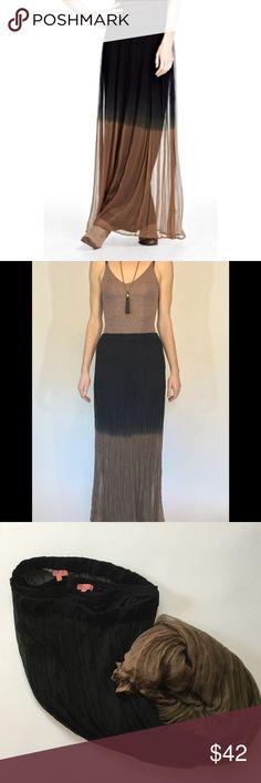 Chan Luu dip dyed ombre silk maxi skirt Gorgeous silk crepe chiffon skirt by Chan Luu. This is a two piece set...one comfortable stretch jersey liner skirt and a sheer two toned top layer... both feature a thin elastic waist. This is a small but fits snug... like an xs. Beautiful and goes with anything, can be dressed up or down. EUC, worn once. Chan Luu Skirts Maxi
