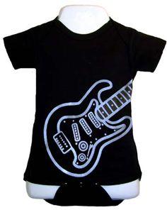 Punk Rock Baby Onesie: Electric Guitar Blue