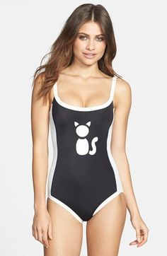 MARC BY MARC JACOBS 'Matte Cat Sportif Bound' Maillot available at #Nordstrom