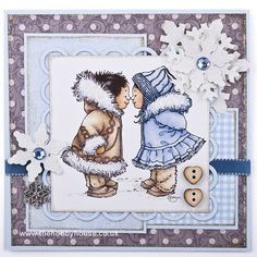 Mo Manning - Eskimo Kisses The Hobby House Die-Cut Card Toppers Christmas @ The Hobby House Best Hobbies For Men, Eskimo Kiss, Hobby House, Mo Manning, Penny Black Stamps, Whimsy Stamps, Winter Cards, Card Sketches, Whimsical Art