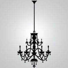 Wall Art Chandelier with Rhinestones, Peel-Stick