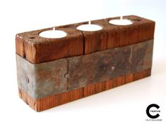 Rustic tea lights holder