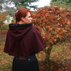 Wool capelet