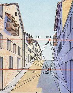 Resultado de imagen de láminas de perspectiva conica
