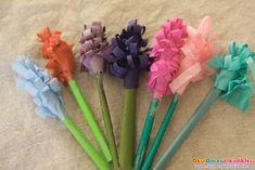 origami sanatı ile sümbüller:)