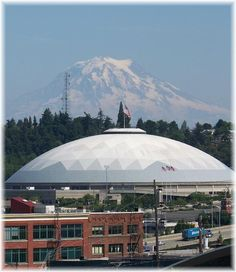 Tacoma Dome - Tacoma, WA. Home town. A friend's Edwardian family home was one of many torn down to make way for the Dome and parking lots.
