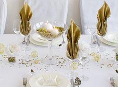 Goldene Servietten