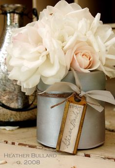 Table Place Cards Idea ~ (Change out the flowers for the holiday or occasion) Pc1