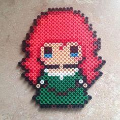 Merida (Brave) perler beads by meganmorphine - Original design by tsubasa.yamashita