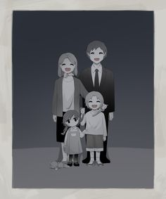 """some reason, this reminds me of that quote from Anna Karenina- """"happy families are all alike. Each unhappy family is unhappy in it's own way. Dark Fantasy Art, Dark Art Illustrations, Illustration Art, Sad Anime, Anime Art, Art Triste, Image Triste, Sun Projects, Art Mignon"""