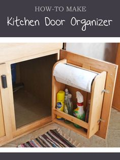 Ana White   Build a Kitchen Cabinet Door Organizer Paper Towel Holder   Free and Easy DIY Project and Furniture Plans