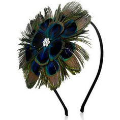 Ophelia Peacock Statement Alice Band