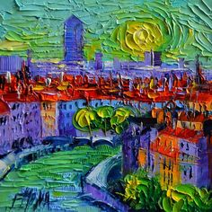 Buy LYON AT SUNRISE - - contemporary impressionist palette knife oil painting, Oil painting by MONA EDULESCO on Artfinder. Discover thousands of other original paintings, prints, sculptures and photography from independent artists.
