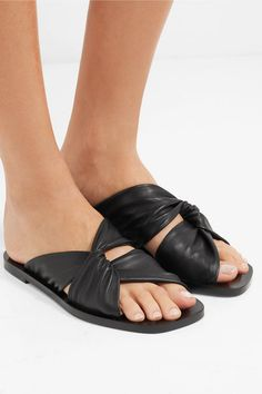 78b727d63ce84 Proenza Schouler - Knotted leather slides