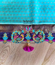 Saree Tassels Designs, Saree Kuchu Designs, Saree Blouse Neck Designs, Fancy Blouse Designs, Bridal Blouse Designs, Blouse Designs Catalogue, Designer Blouse Patterns, Hand Embroidery Designs, Just For You