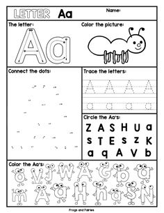 Alphabet Letter Worksheets A-Z Your pre-k and kindergarten kids will enjoy learning alphabet letters with these engaging worksheets! Each letter page includes five different activities for your kids to learn about upper and lower case letters! Pre K Worksheets, Letter Worksheets For Preschool, Preschool Writing, Preschool Lessons, Alphabet Activities, Homeschool Kindergarten, Homeschooling, Learning Letters, Kids Learning