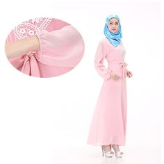 2017 Promotion Djellaba Islamic Clothing For Women Muslim Abaya Islamic Ethnic Long Dress Women Robe Arabic Malaysia Chiffon #Islamic clothing Islamic Clothing, Muslim, Promotion, Ethnic, Chiffon, Clothes, Shopping, Dresses, Fashion