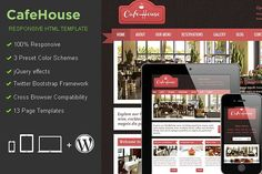 CafeHouse Responsive HTML Template by MatchThemes on @creativemarket