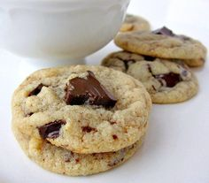 """Gluten-free Chocolate Chunk Cookies (wow!) - paleo friendly if you use """"enjoy life"""" chocolate and grass fed butter!"""