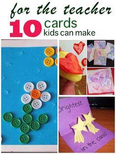 10 cards for teachers