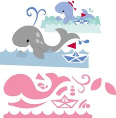 Col1430 Eline's whale - Marianne Design Collectables - Snijmallen - Hobbynu.nl