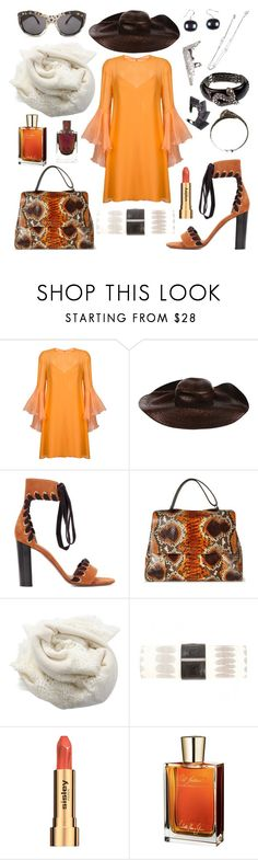 """""""starting from the jewelry"""" by harikleiatsirka ❤ liked on Polyvore featuring Galvan, Dsquared2, Chloé, Orciani, Janavi, Baraboux, Sisley and Juliette Has A Gun"""