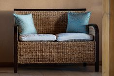 Laundry Basket, Wicker, Throw Pillows, Organization, Bed, Home Decor, Cushions, Getting Organized, Homemade Home Decor