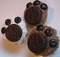 bear claw cupcakes! cute!