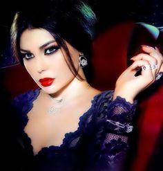 Haifa wehbe my official women crush! she is gorgeous! She Is Gorgeous, Most Beautiful Faces, Stunning Eyes, Beautiful Women, Bridal Makeup Tips, Wedding Makeup, Arab Celebrities, Haifa Wehbe, Races Fashion