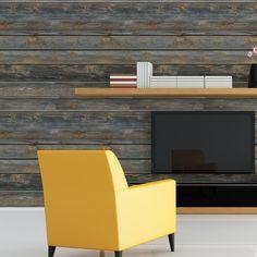 Papel de parede adesivo madeira horizontal rustica - StickDecor | Decoração Criativa