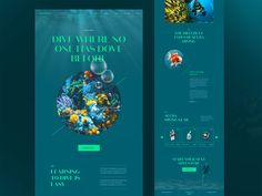 Scubadiving website design by Achraf Elkaami