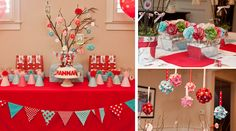 Little Red Riding Hood Guest Dessert Feature First Birthday Parties, Birthday Party Themes, First Birthdays, Birthday Ideas, Little Red Riding, Red Riding Hood Party, Forest Party, Red Party, Red Turquoise