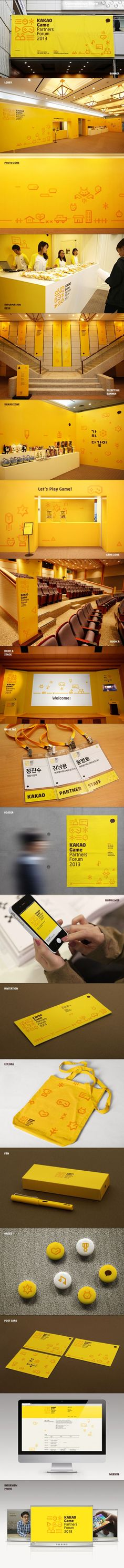 KAKAO Game Partners Forum Brand eXperience Design by Plus X , via Behance. Even…
