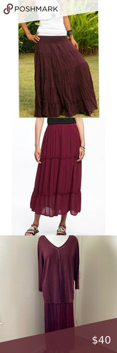 New Lot Burgundy Blue skirt Long Maxi Lace DRESS Formal Ball Summer Cocktail S M