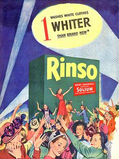 Rinso Riot, 1950's, advertising