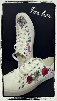 DIY canvas shoes, customised, handpainted