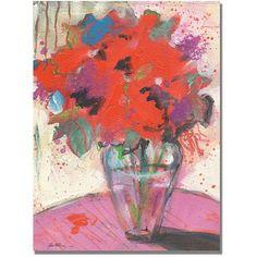Trademark Art Scarlet Bouquet Canvas Art by Shelia Golden, Size: 18 x 24, Red