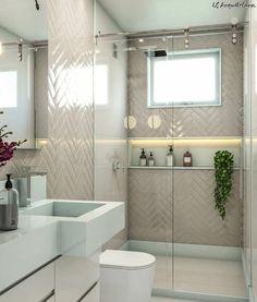 college Bathroom Decor LS Arquitetura on. Bathroom Design Small, Bathroom Layout, Simple Bathroom, Bathroom Interior Design, Modern Bathroom, Bathroom Ideas, Bathroom Mirrors, Remodel Bathroom, Bathroom Cabinets