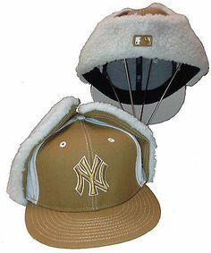 e706112c609 NEW ERA 59Fifty NY Yankees 7 1 2 Cap Dog Ear Winter Hat Trapper New