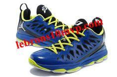 Jordan CP3.VIX Chris Paul Shoes Blue Fluorescent Yellow Air Jordans e37dcc165