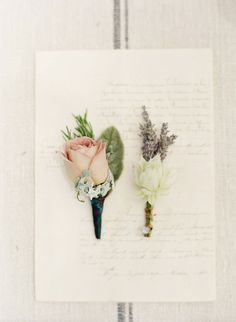 Love the femininity of this; even if it is a boutonniere
